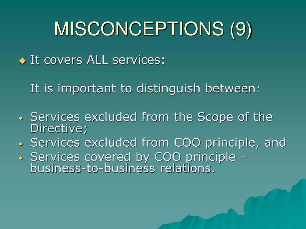 MISCONCEPTIONS (9)
