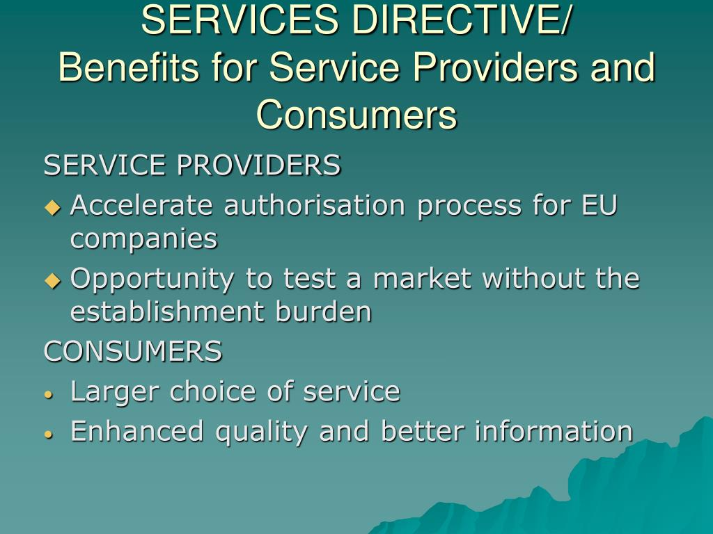 SERVICES DIRECTIVE/