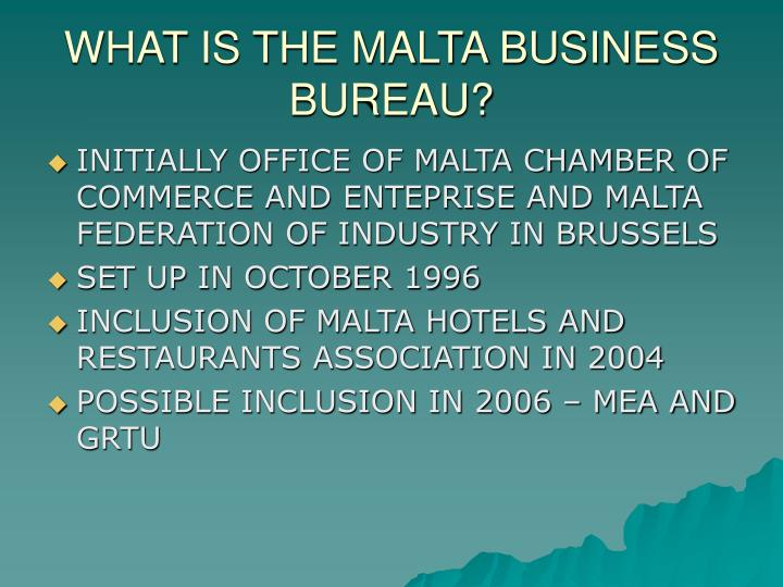What is the malta business bureau