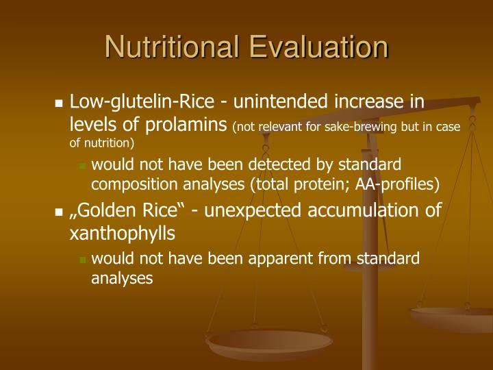 Nutritional Evaluation