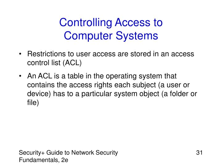 Controlling Access to
