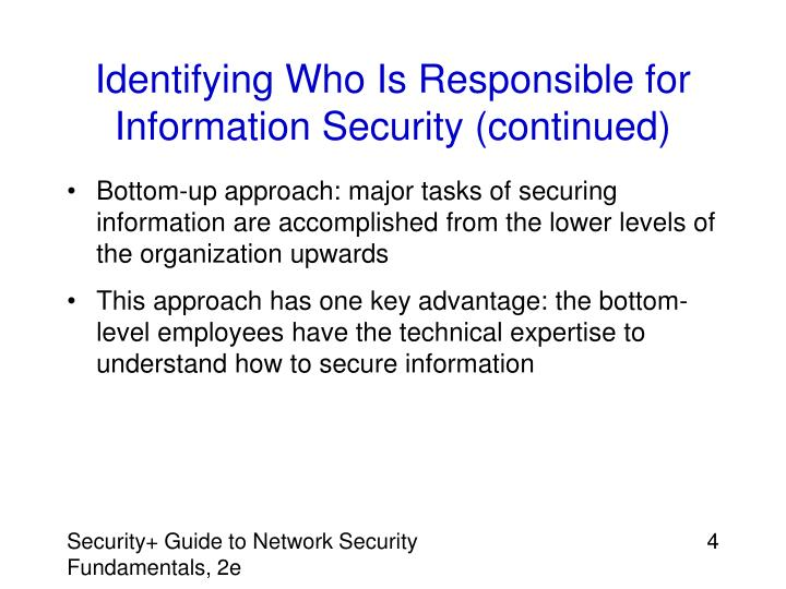 Identifying Who Is Responsible for Information Security (continued)