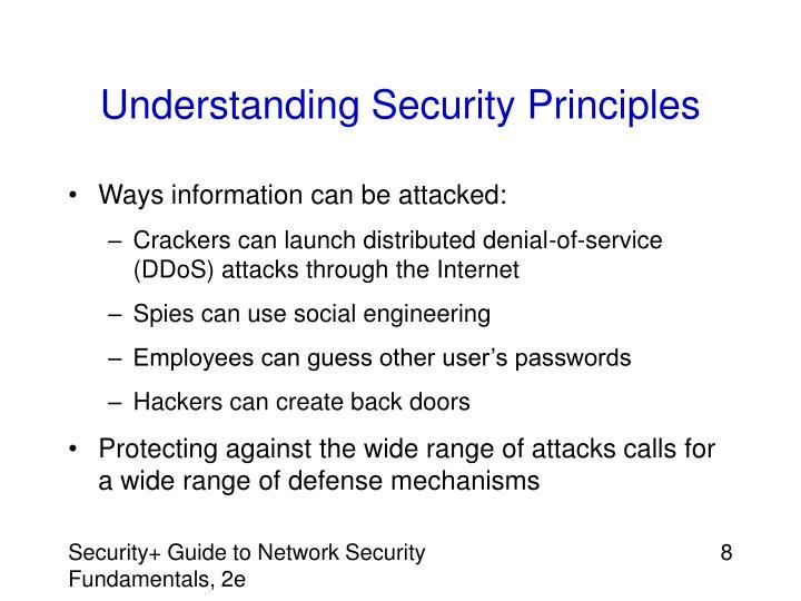 Understanding Security Principles