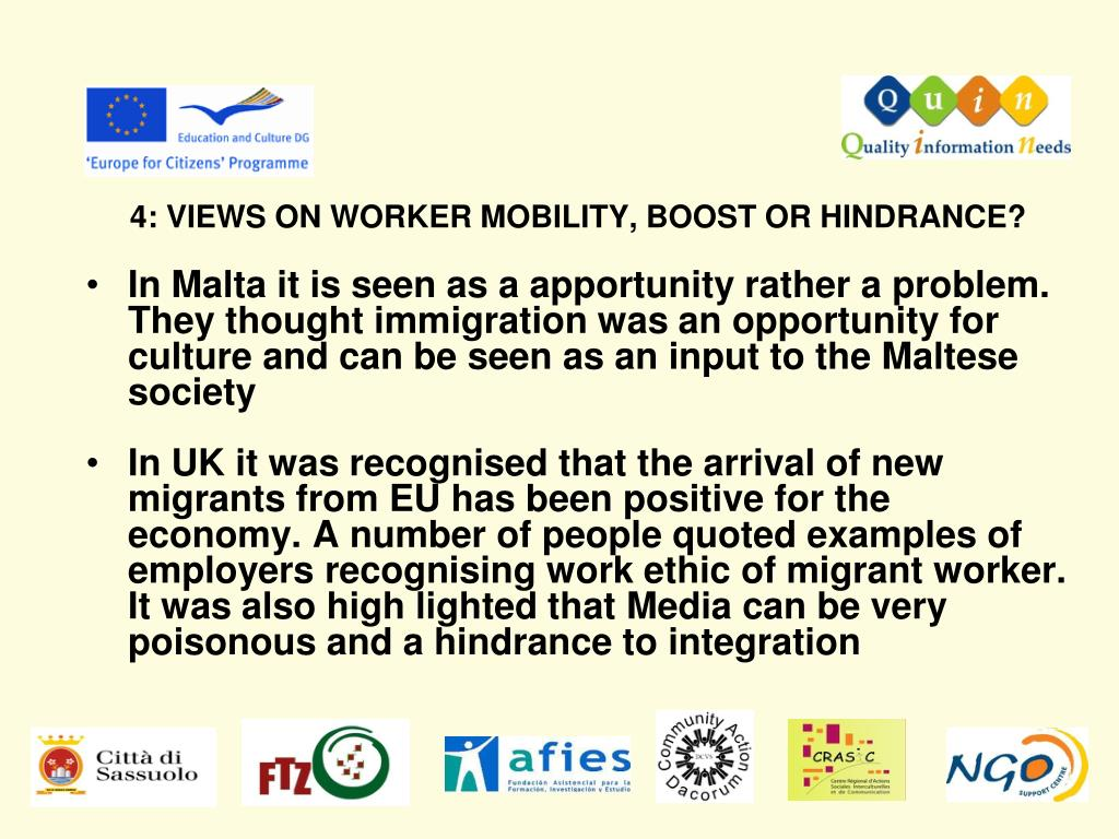 4: VIEWS ON WORKER MOBILITY, BOOST OR HINDRANCE?