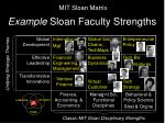 example sloan faculty strengths