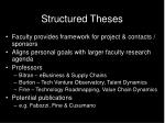 structured theses