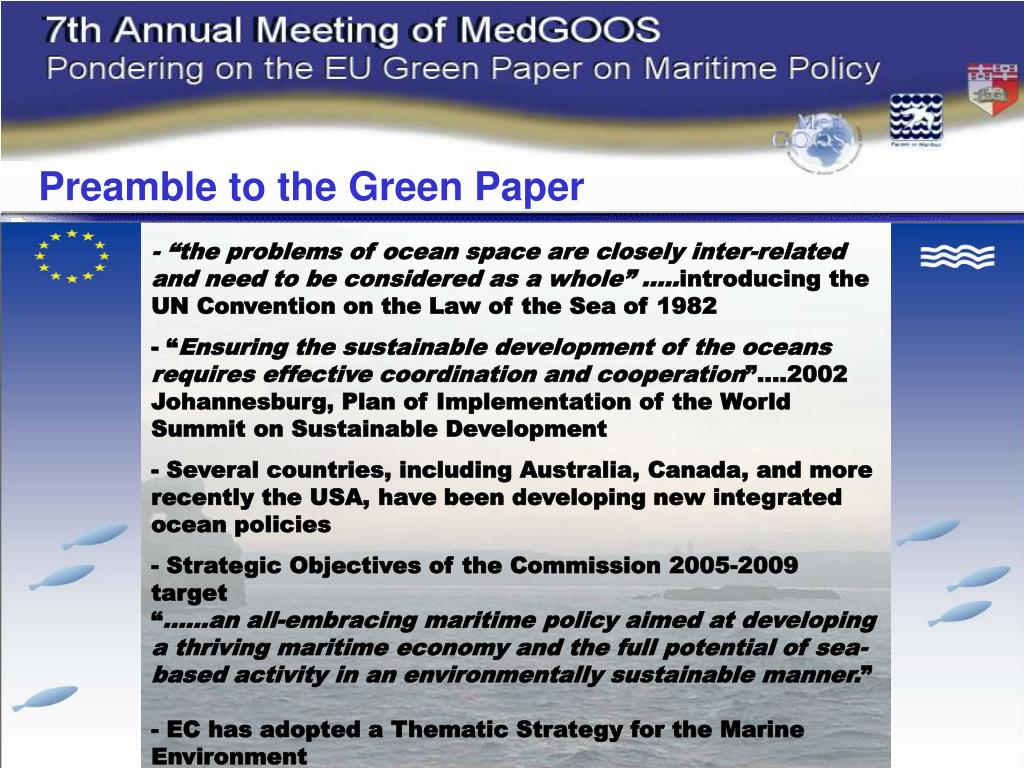 Preamble to the Green Paper