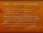 malta cost of living adjustment