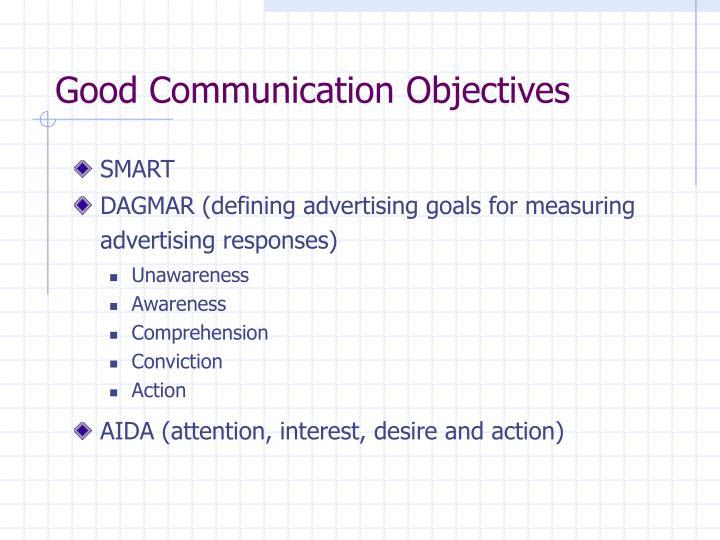 Good Communication Objectives