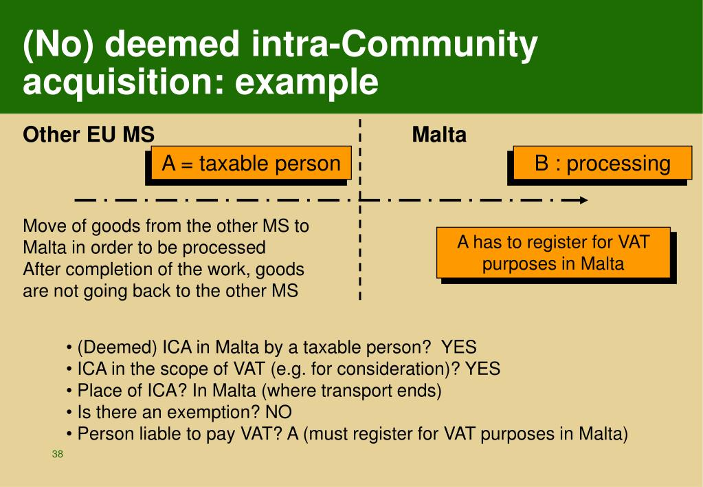 (No) deemed intra-Community acquisition: example