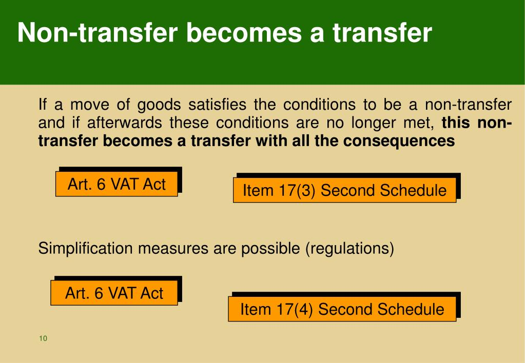 Non-transfer becomes a transfer