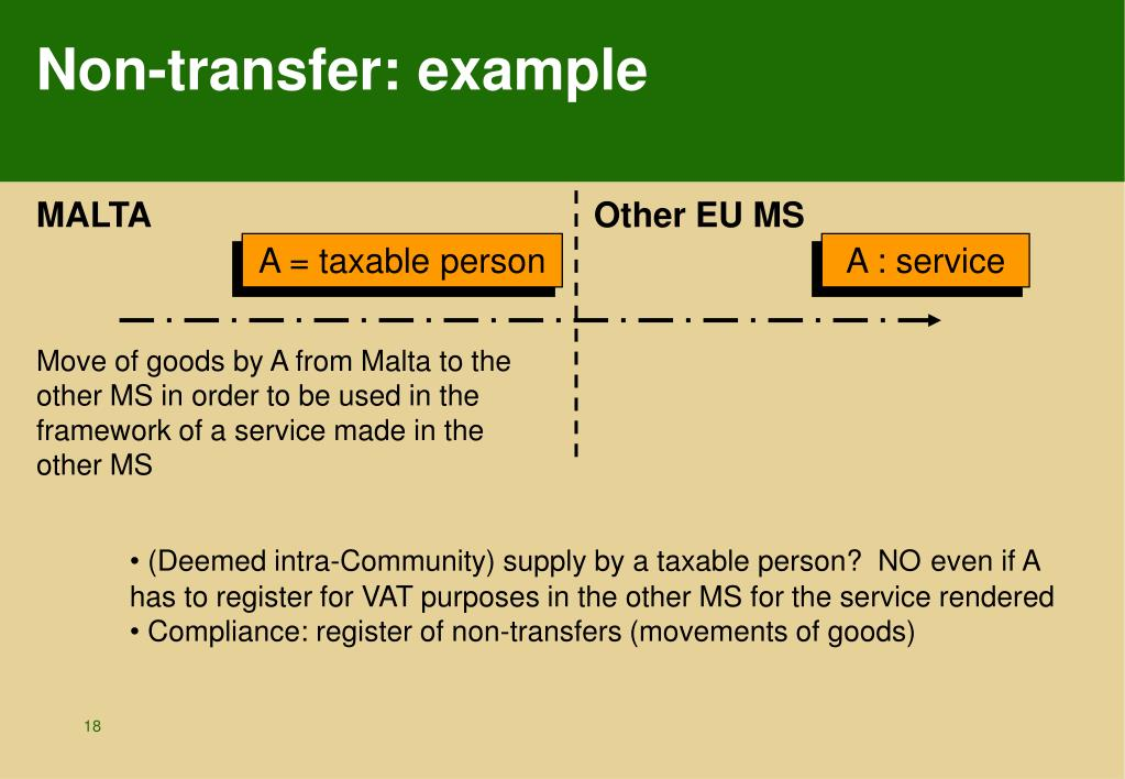 Non-transfer: example