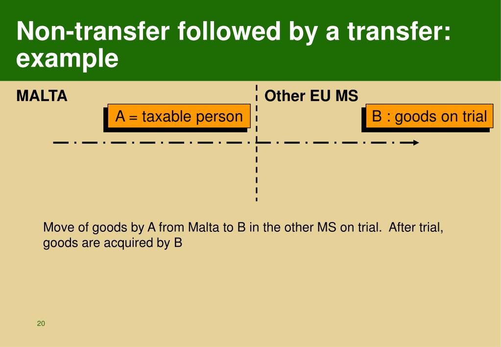 Non-transfer followed by a transfer: example