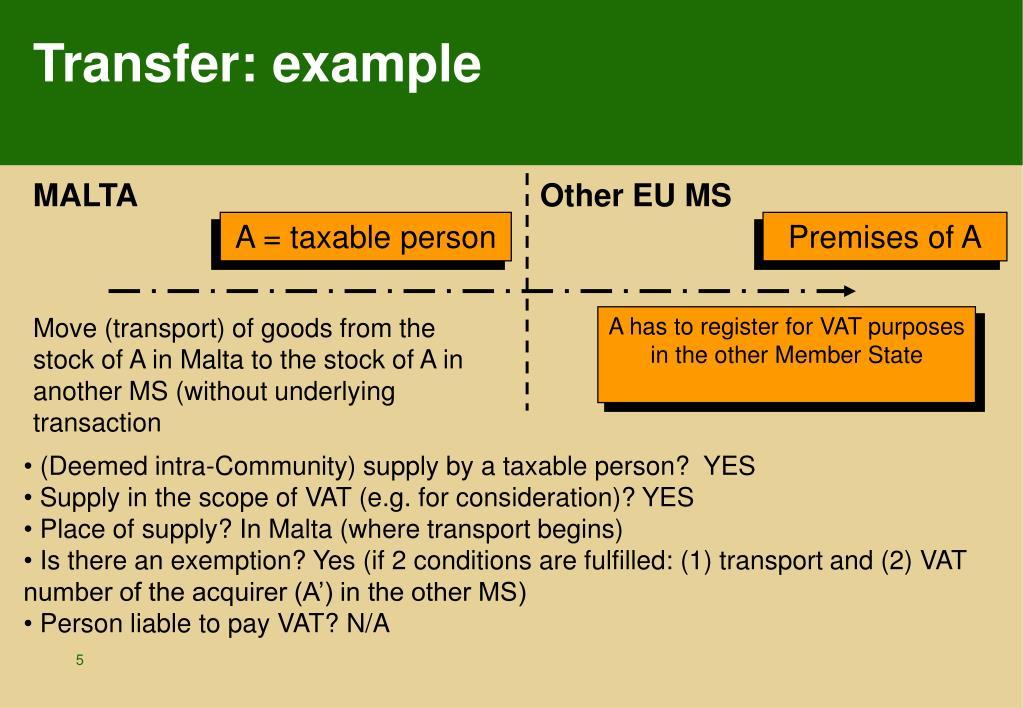 Transfer: example