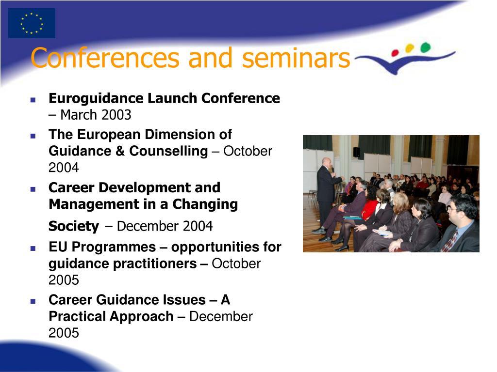 Conferences and seminars