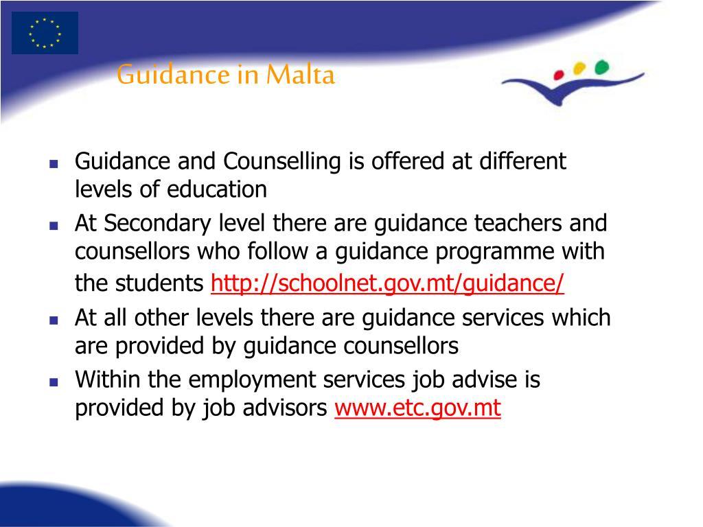Guidance in Malta