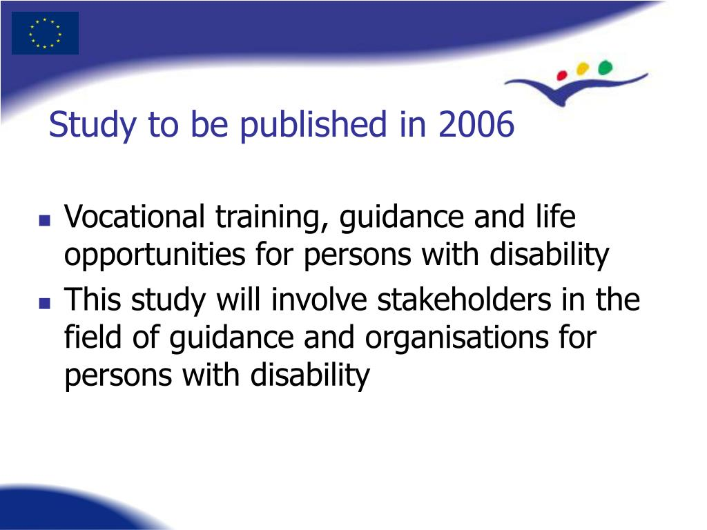 Vocational training, guidance and life opportunities for persons with disability