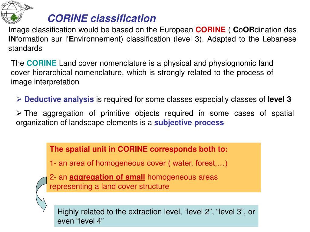 CORINE classification