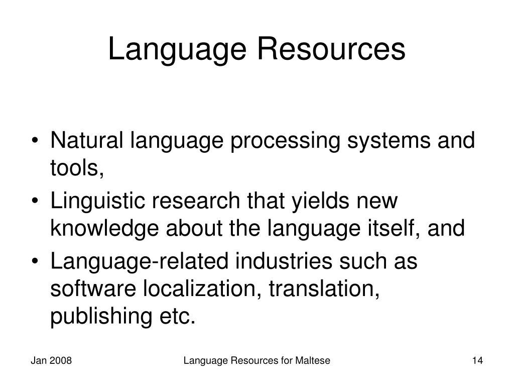 Language Resources