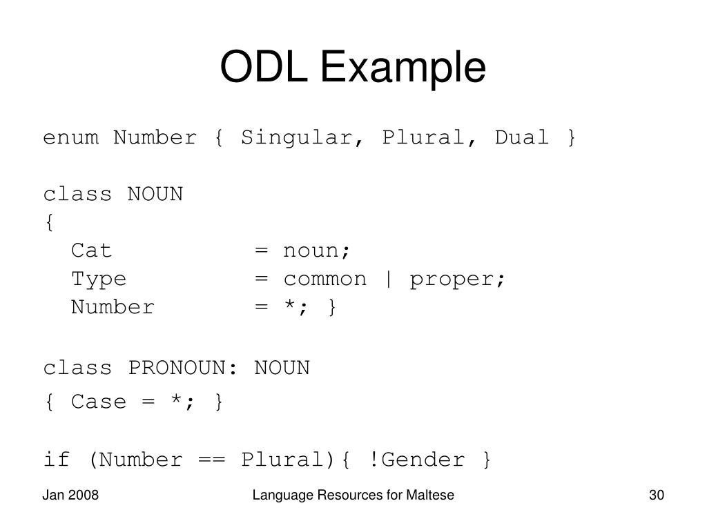 ODL Example