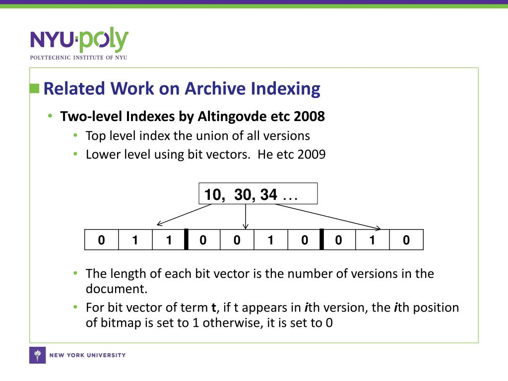 Related Work on Archive Indexing