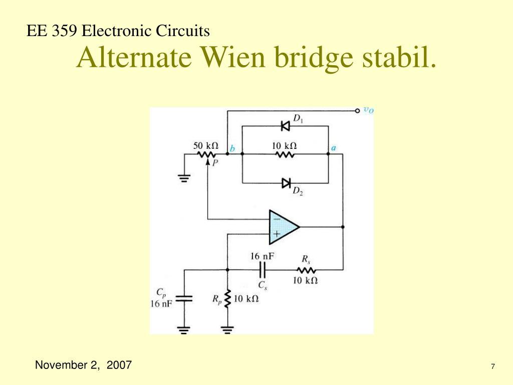 Alternate Wien bridge stabil.