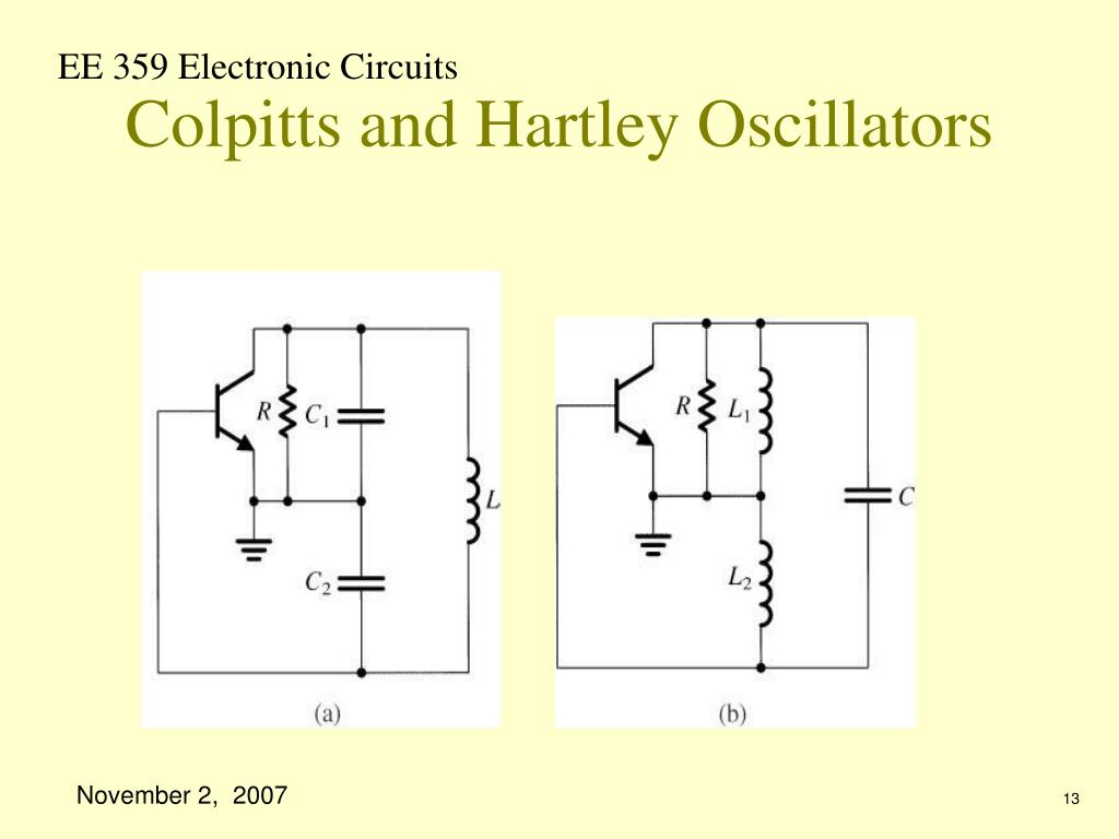 Colpitts and Hartley Oscillators