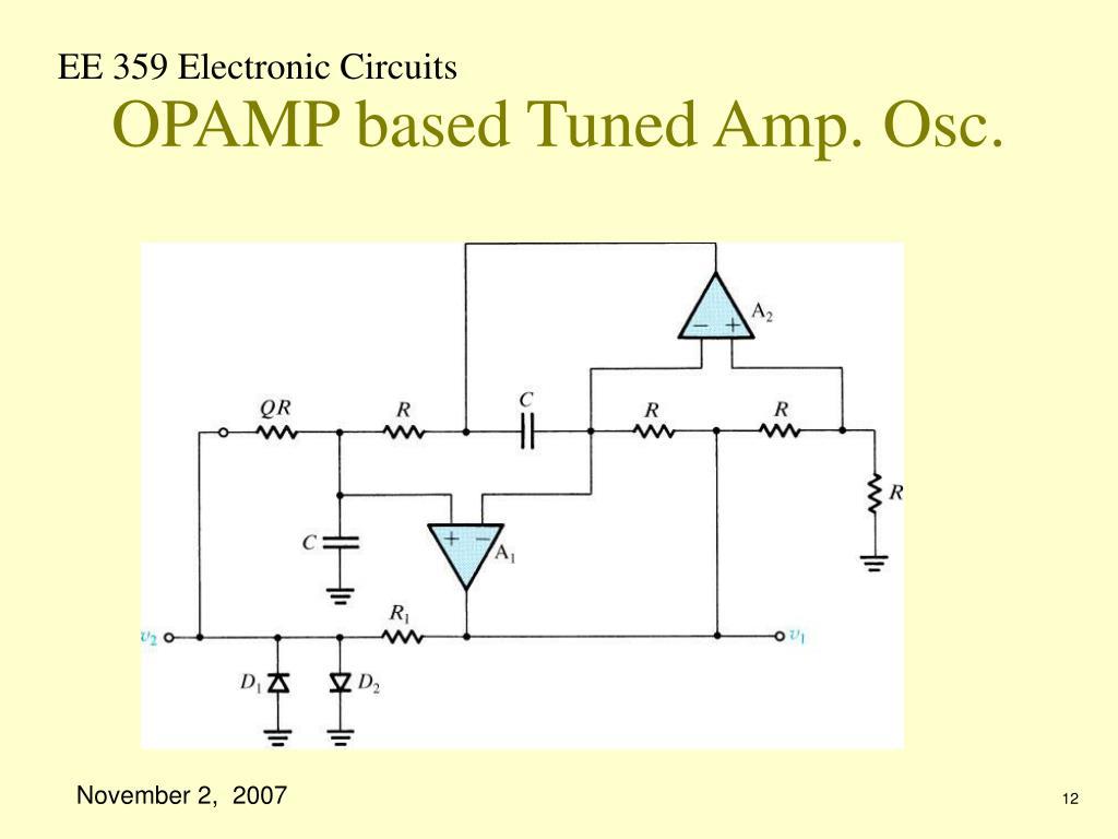 OPAMP based Tuned Amp. Osc.