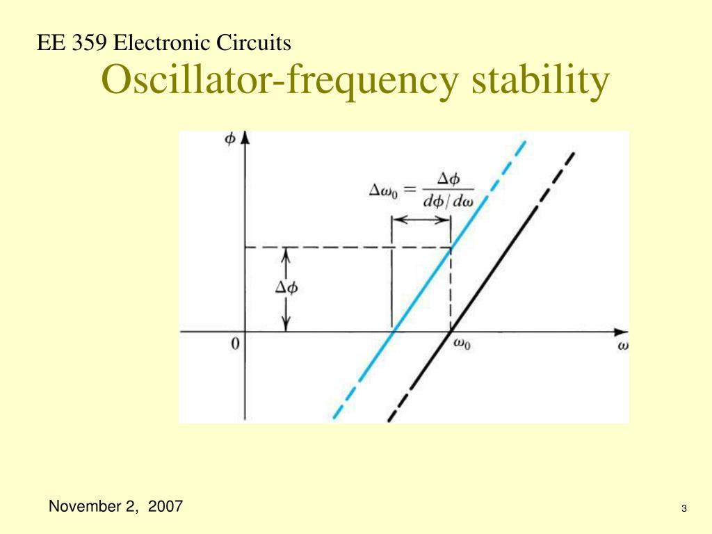 Oscillator-frequency stability
