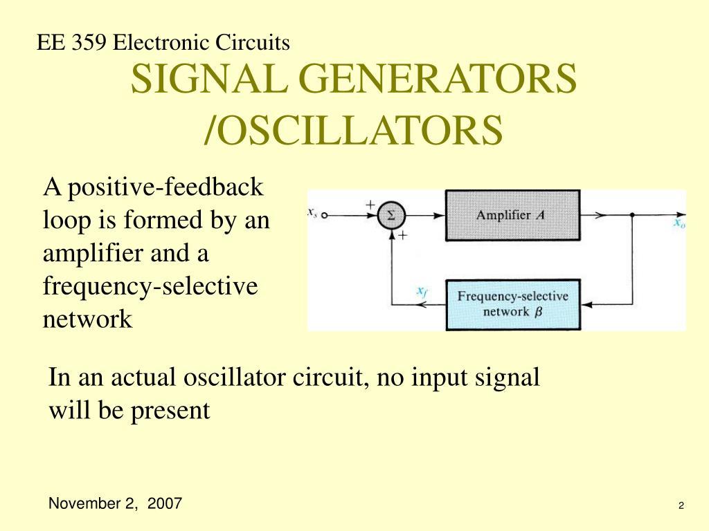 SIGNAL GENERATORS /OSCILLATORS