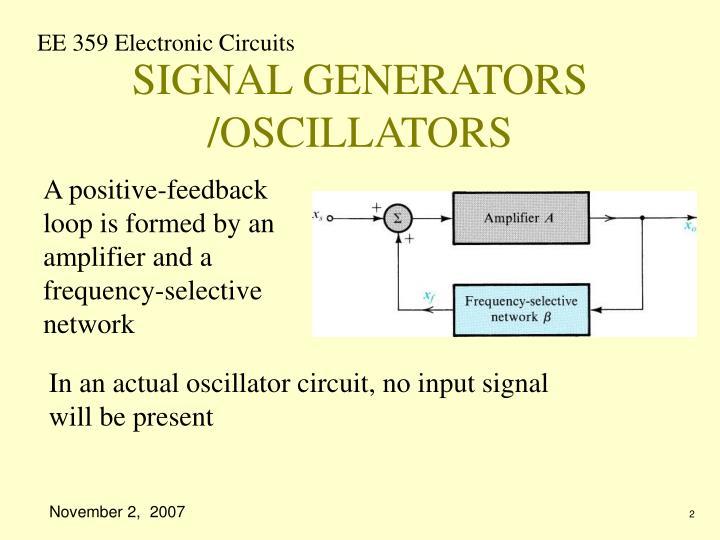 Signal generators oscillators
