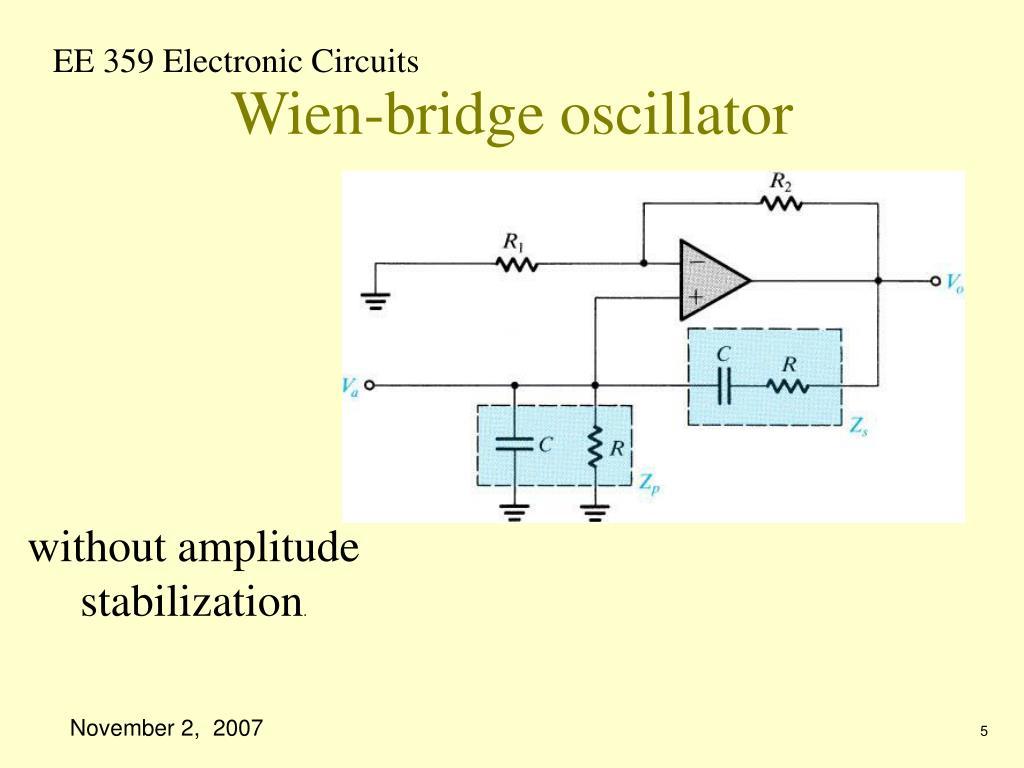 Wien-bridge oscillator
