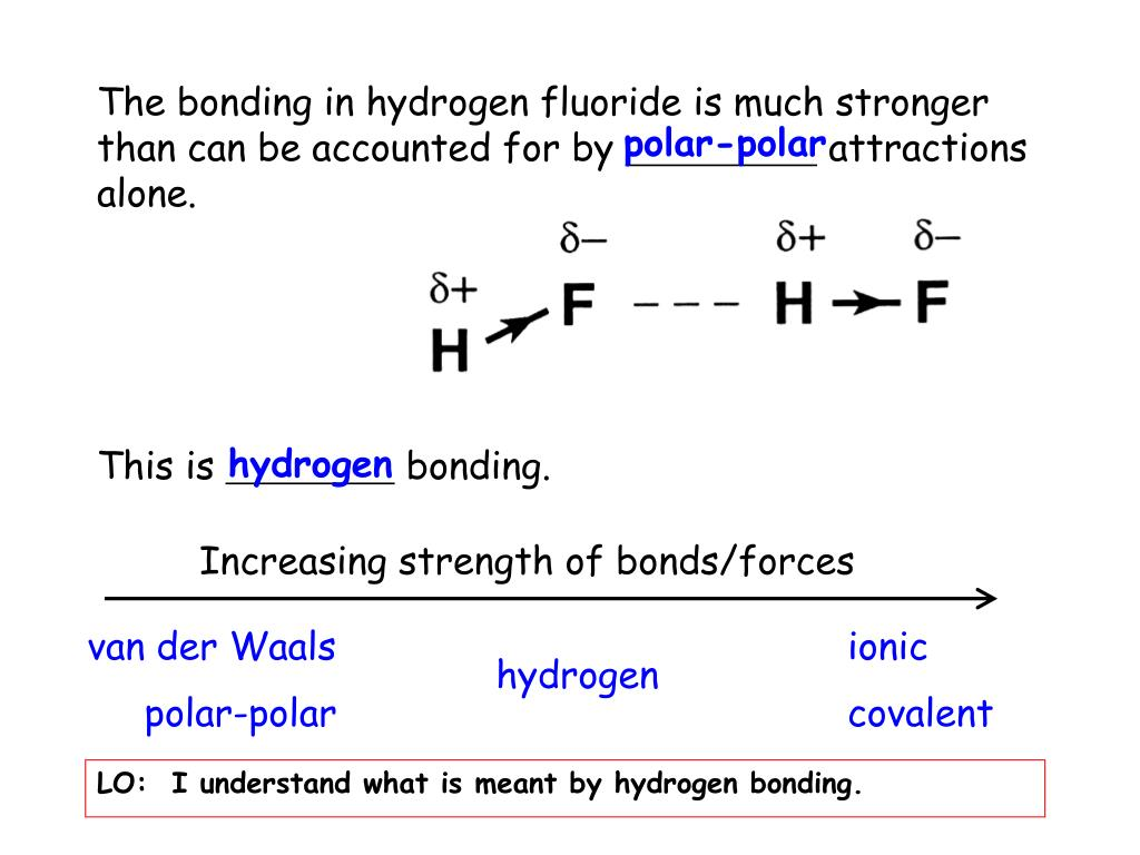 PPT - 2 6 Hydrogen Bonding PowerPoint Presentation - ID:1085449