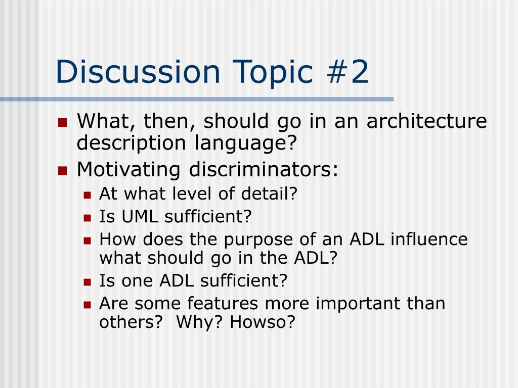 Discussion Topic #2