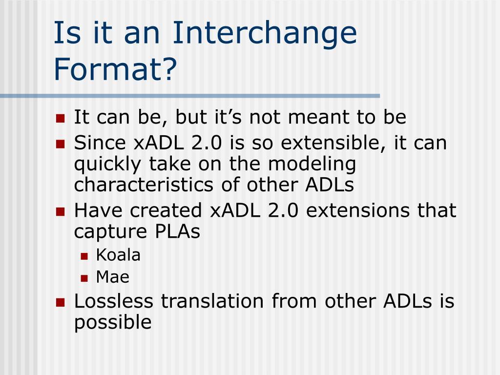 Is it an Interchange Format?