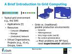 a brief introduction to grid computing