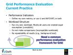 grid performance evaluation current practice