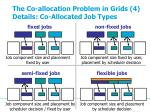 the co allocation problem in grids 4 details co allocated job types