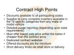 contract high points