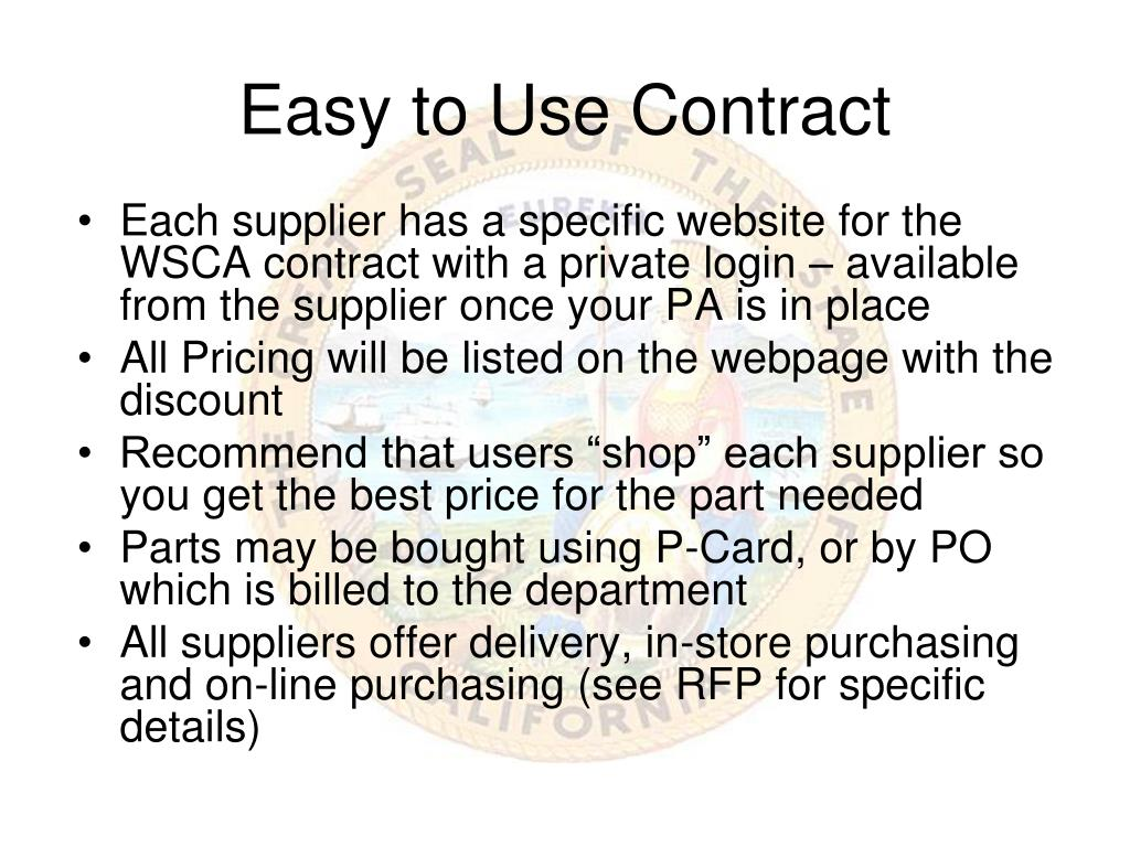 Easy to Use Contract