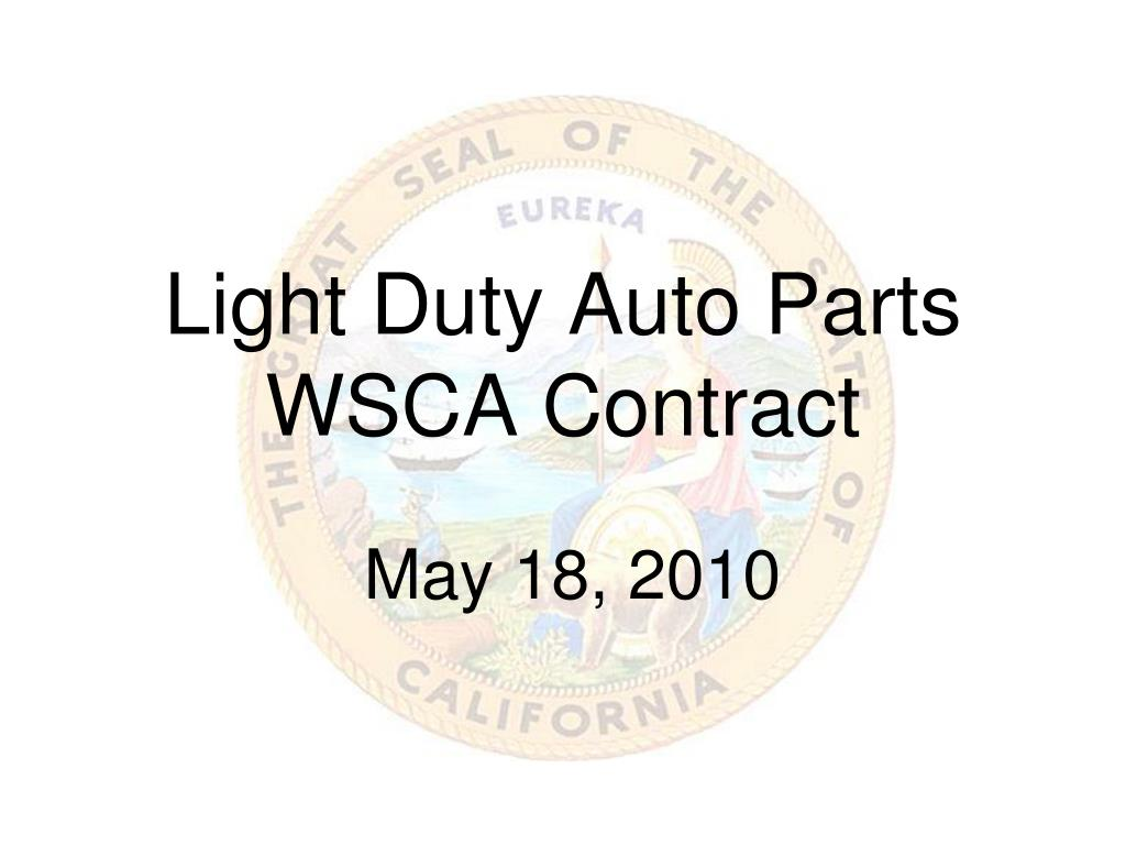 light duty auto parts wsca contract l.