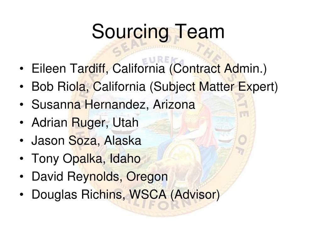 Sourcing Team