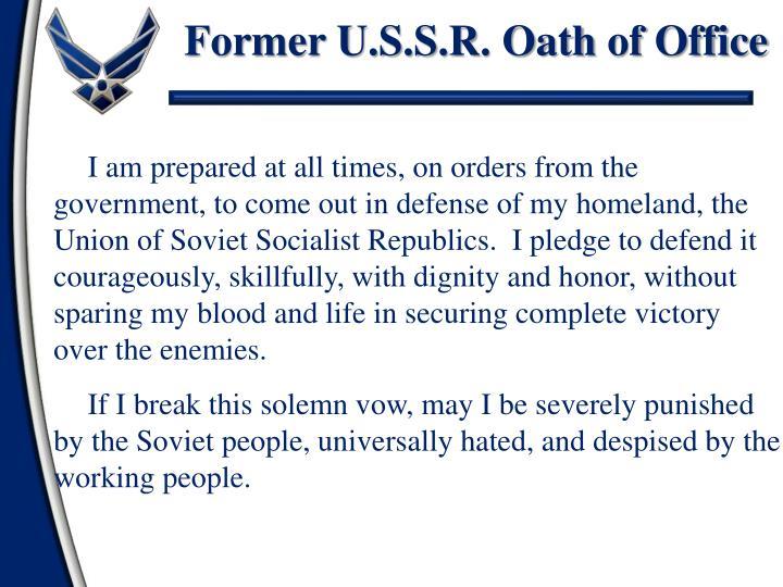 Former U.S.S.R