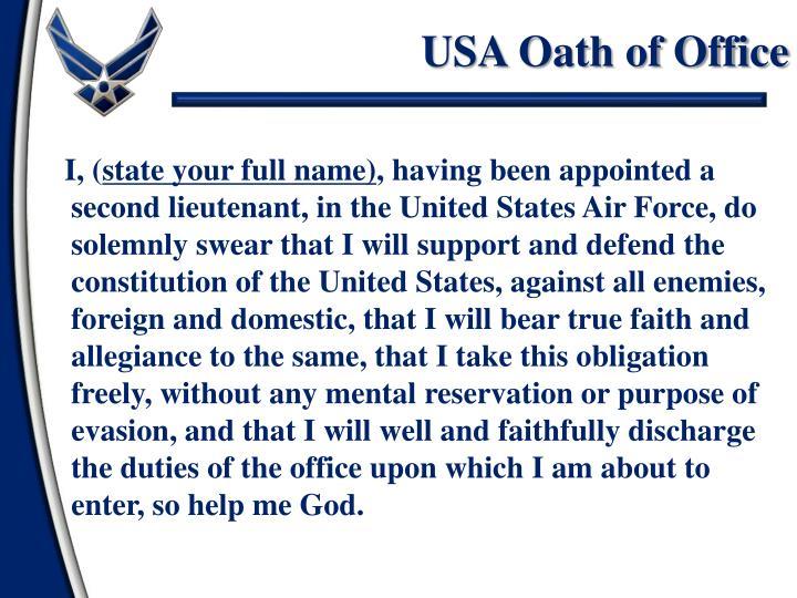 USA Oath of Office