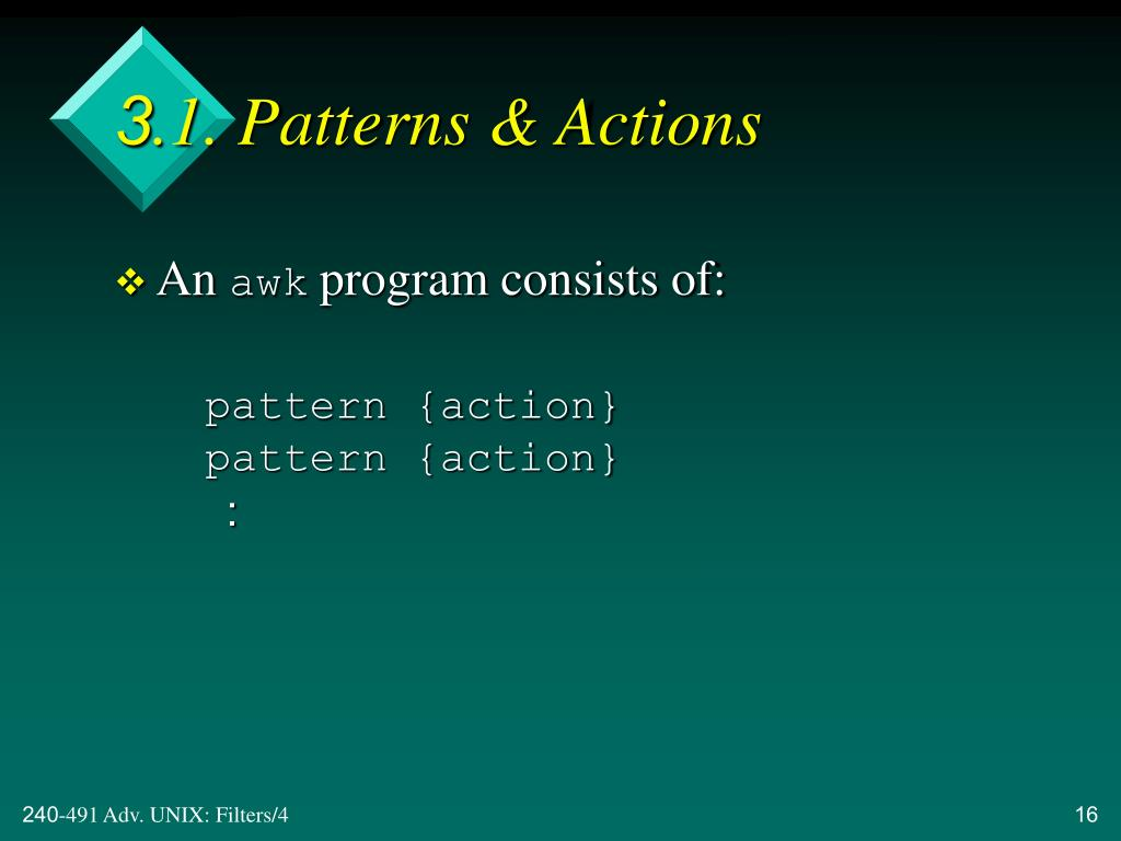 3.1. Patterns & Actions
