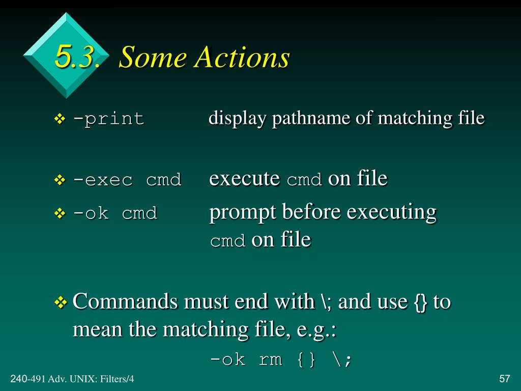 5.3.  Some Actions
