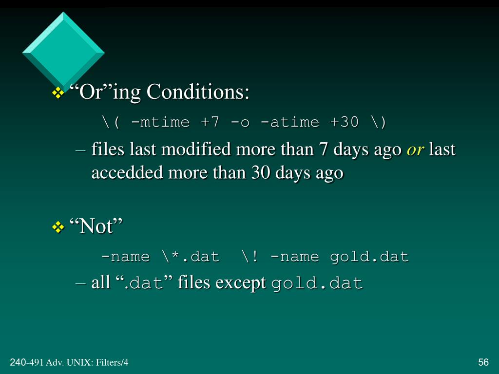 """""""Or""""ing Conditions:"""
