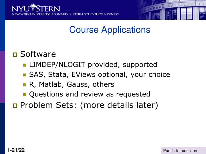 Course Applications