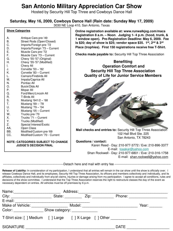 San Antonio Military Appreciation Car Show