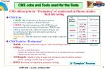 cms jobs and tools used for the tests